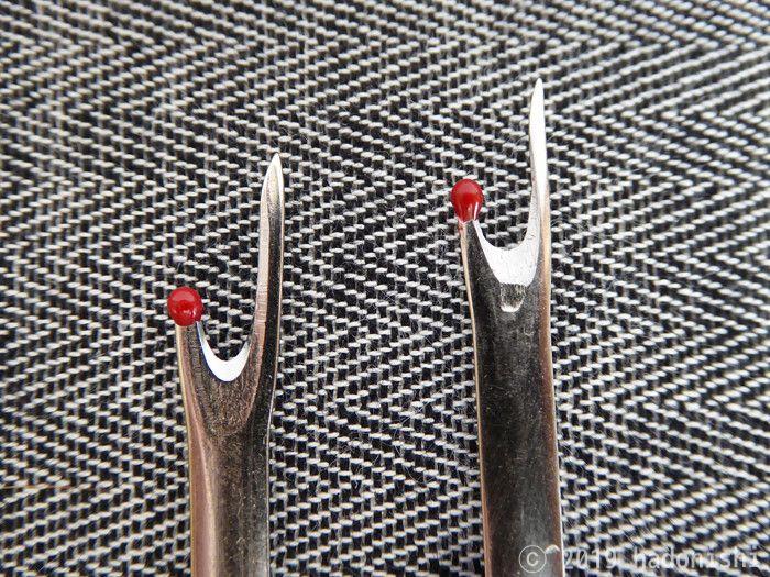 セリアとダイソーでは刃の加工方法が異なる