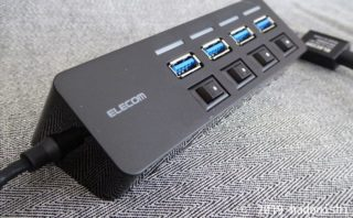 レビュー:エレコムU3H-S418BBK 4ポートUSB3.0ハブは便利なんだけどいろいろ惜しい
