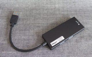 ナカバヤシ Digio2 USB3.0 コンボハブ COM-3SD013BKの本体裏