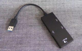 ナカバヤシ Digio2 USB3.0 コンボハブ COM-3SD013BKの本体