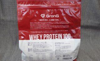 GronG(グロング) ホエイプロテイン100 ストロベリー風味 パッケージ裏