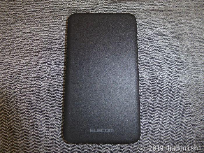 エレコム モバイルバッテリー DE-M09-5000BKの本体