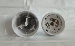 パナソニック LEDランタン BF-AL05P-W 電池蓋を開けたところ