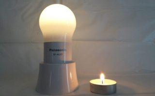 パナソニック LEDランタン BF-AL05P-W キャンドルと弱ライト