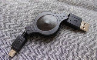 Groovy 巻取式USBケーブル GM-UH003 miniBタイプ 本体