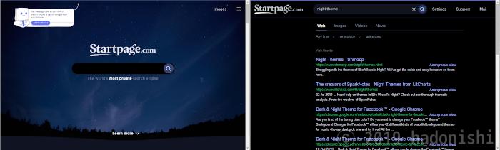 Startpage.com Nightテーマ