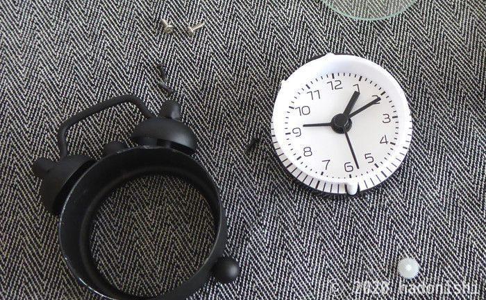失敗談:ダイソー200円ミニ目覚まし時計が改造に向いていそうなので分解したら直せなくなったのサムネイル