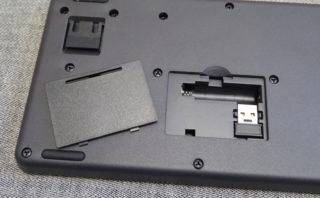 TK-FDM110TBKの電池カバーとレシーバー