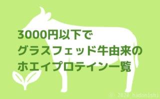 1kg3000円以下で購入できるグラスフェッド牛由来のホエイプロテイン一覧