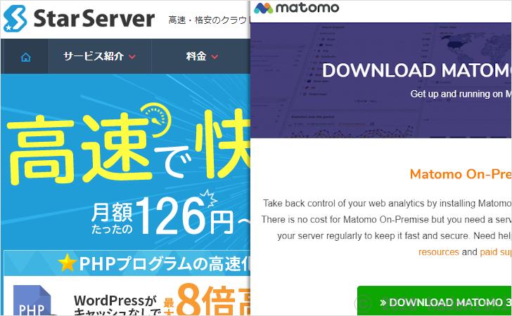 スターサーバーでアクセス解析ツールMatomo(旧名Piwik)をインストールした際の記録のサムネイル