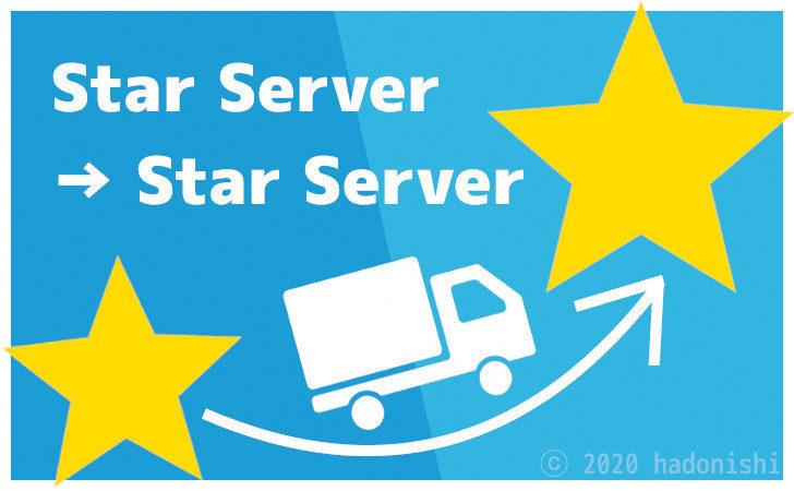 スターサーバーからスターサーバーへWordPressの引っ越しをした際の記録のサムネイル