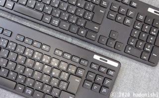 エレコムの無線テンキーレスキーボード TK-FDM109TBK とテンキーありキーボード TK-FDM110TBK の比較