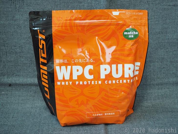 リミテスト ホエイプロテイン WPC PURE 抹茶 パッケージ