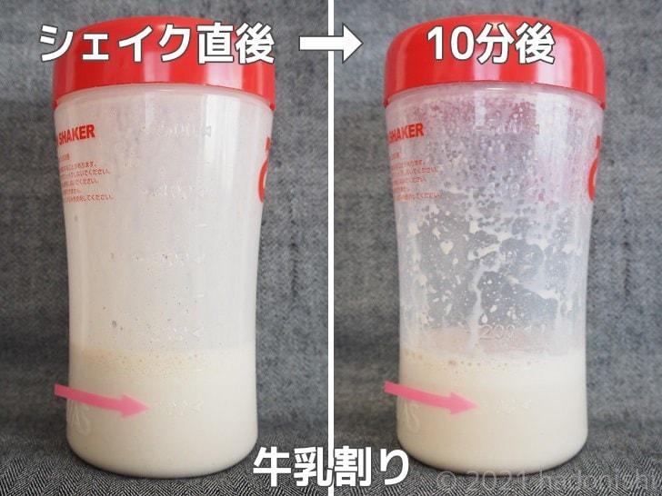 リミテスト Deliciousシリーズ キャラメルソルト ホエイプロテイン を牛乳でシェイク